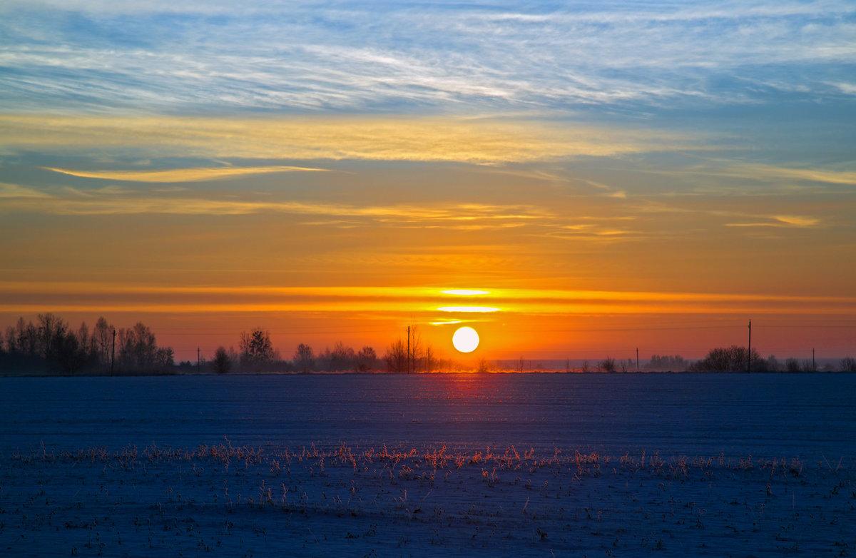 Фото рассвета солнца в барнауле