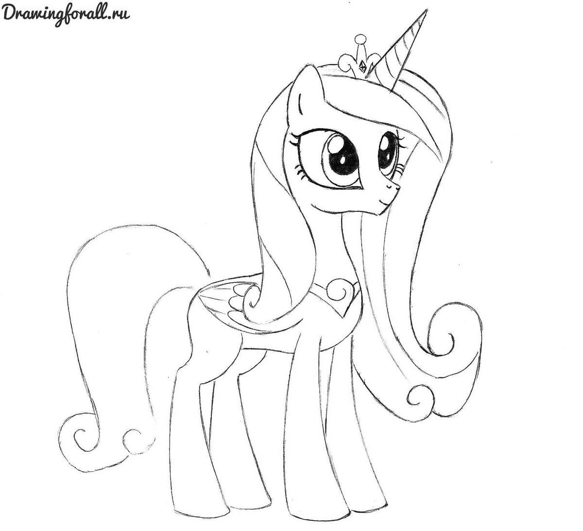 Мой маленький пони рисунки поэтапно