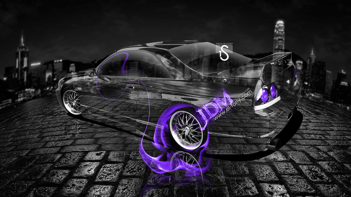 Nissan Skyline GTR R33 JDM Violet Fire Crystal