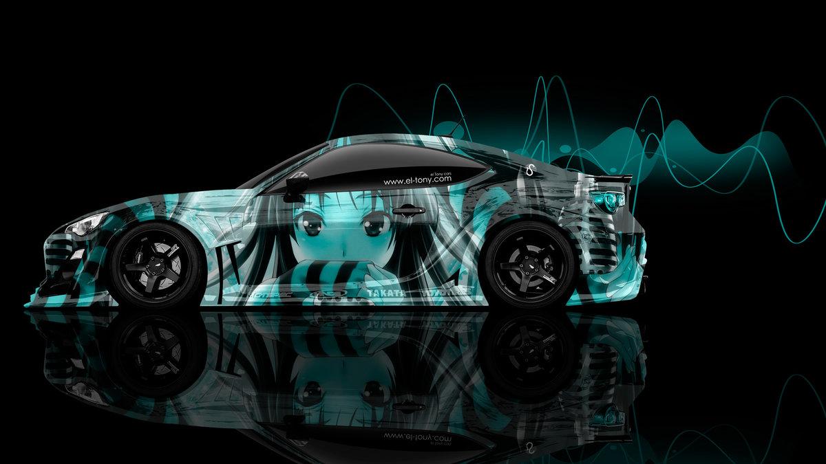 Toyota GT86 JDM Side Anime Aerography Car 2014