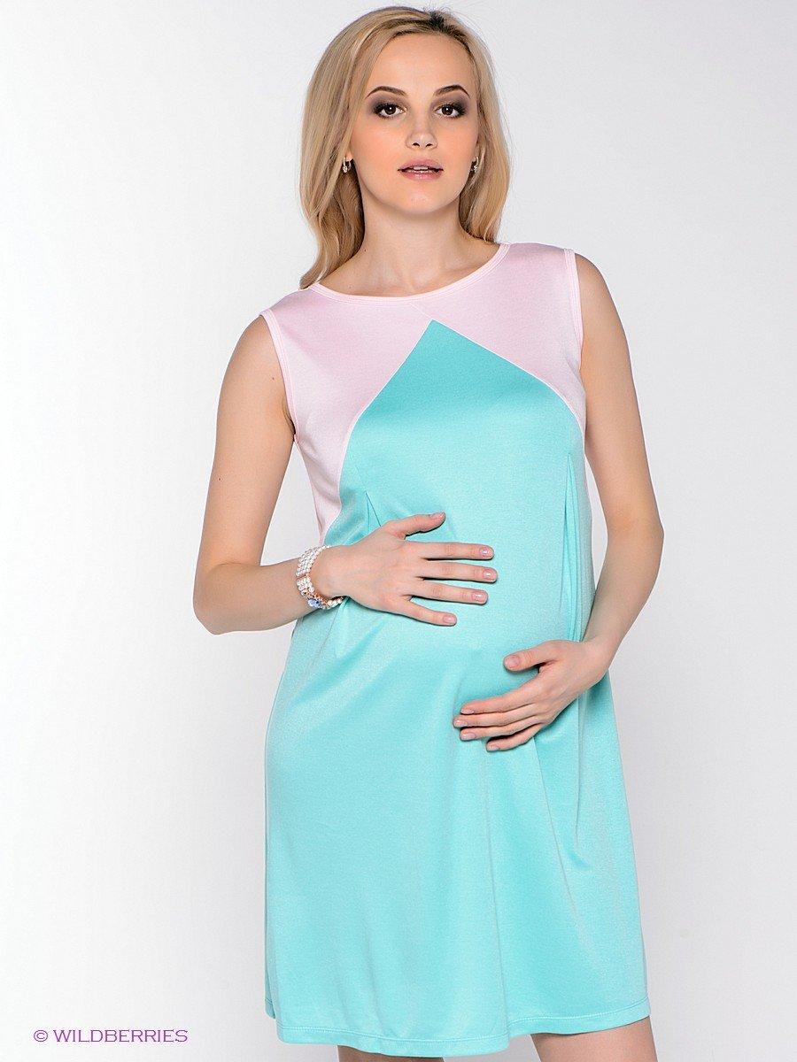 Платья с комбинированием цвета