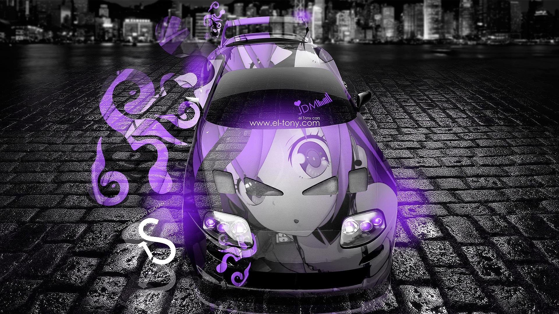 Toyota Supra Anime Fantasy Jdm Car 2013 Violet Neon Hd Wallpapers