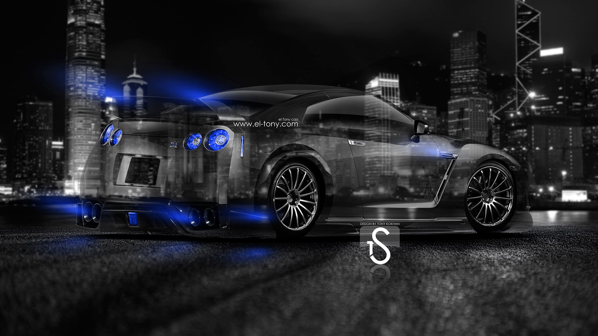 Nissan GTR R35 Tuning Back Crystal City Car