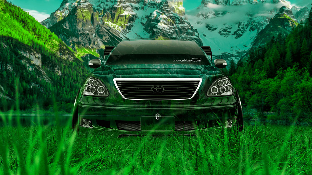 Toyota Celsior JDM Tuning Front Crystal Nature Car