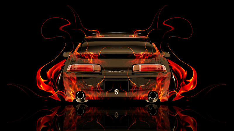 High Quality Toyota Soarer JDM Tuning Back Fire Abstract Car