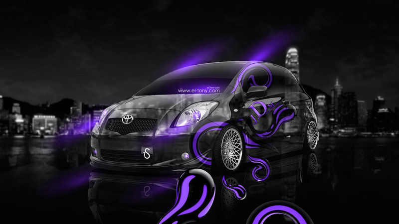 Toyota Vitz SCP90 JDM Effects Crystal City Car