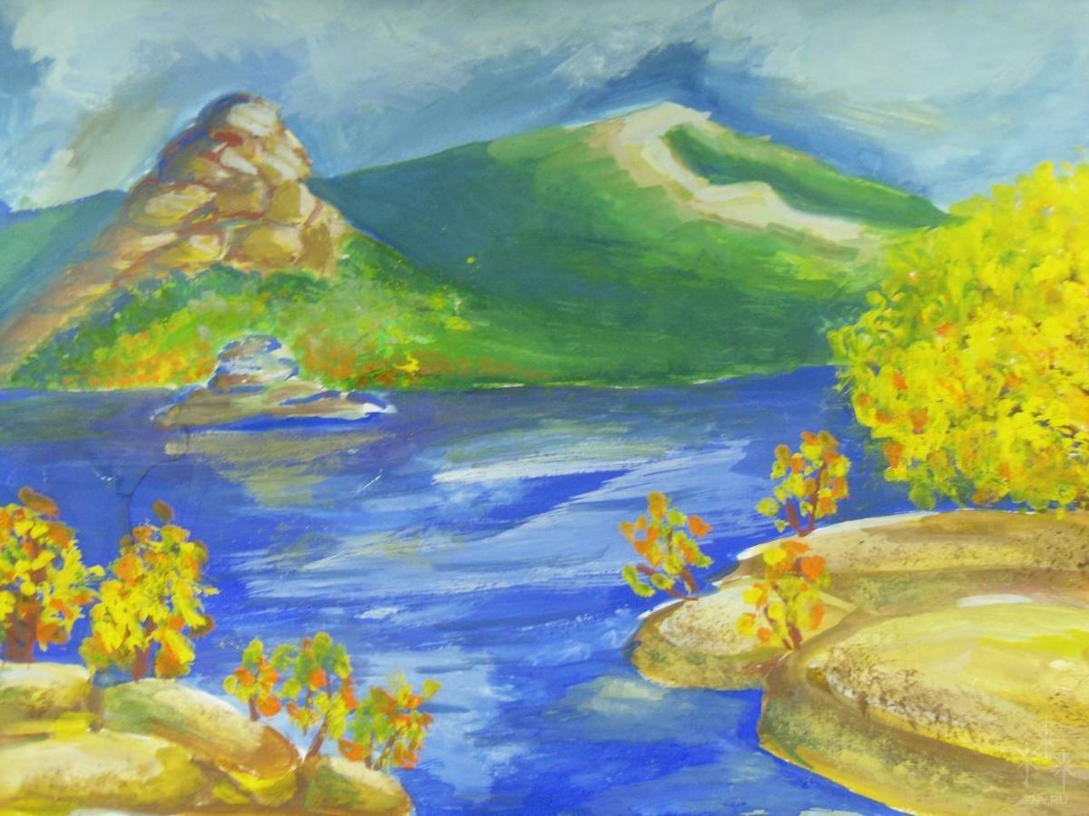 Картинки природы нарисованные детьми