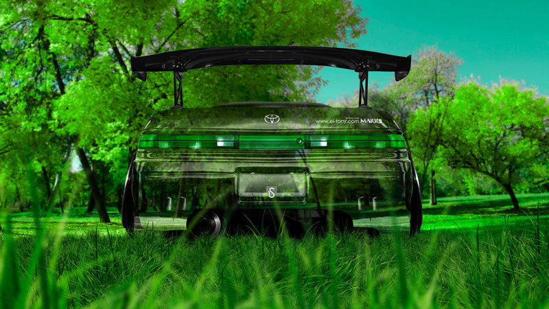 Lovely Toyota Mark2 JZX90 JDM Tuning Back Crystal Nature