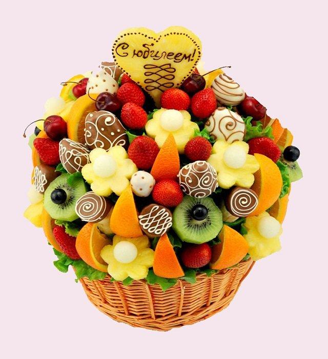 Картинки, открытка с днем рождения с фруктами