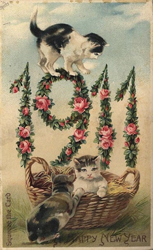Картинки смешные, символы в старинных открытках