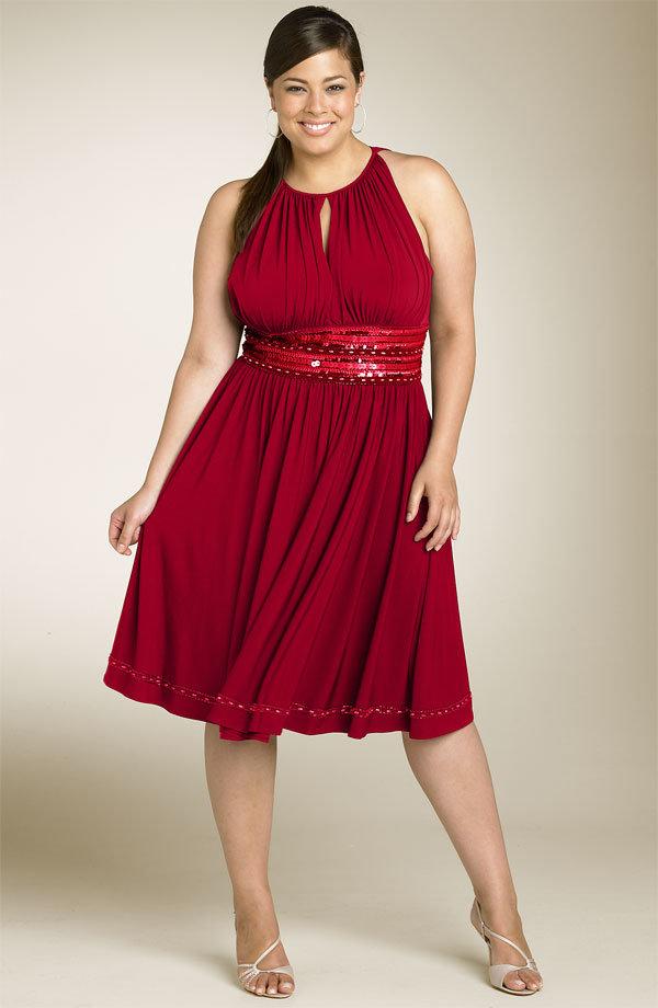 Фото толстушек красивом платье — 3