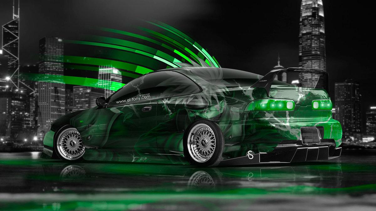 Charming Honda Integra JDM Anime Aerography City Car 2014