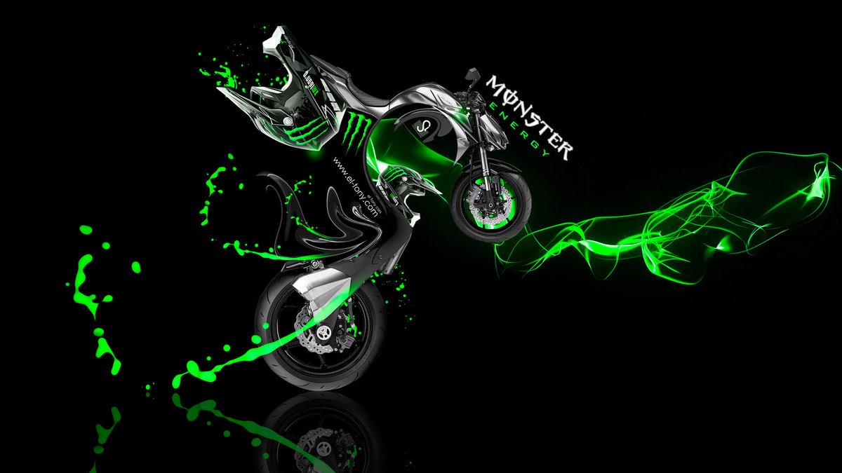 Great Monster Energy Kawasaki Z1000 Fantasy Plastic Bike 2014