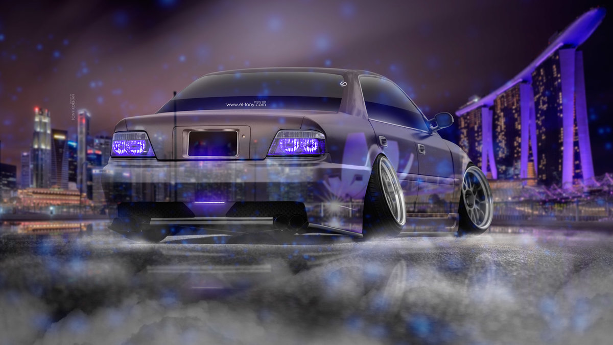 Toyota Chaser JZX100 JDM Tuning 3D Super Crystal