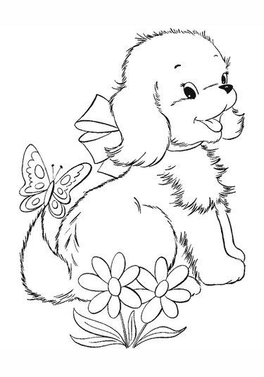 18 карточек в коллекции «Раскраски с собаками ...