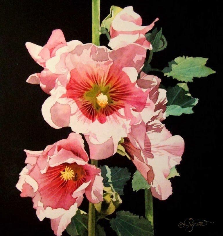 Imágenes Arte Pinturas: Flores Decorativas en Acuarela