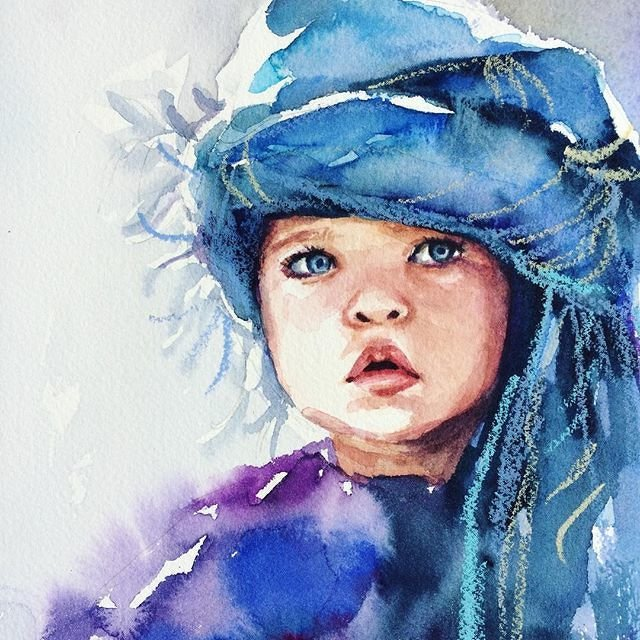 Дети акварелью картинки