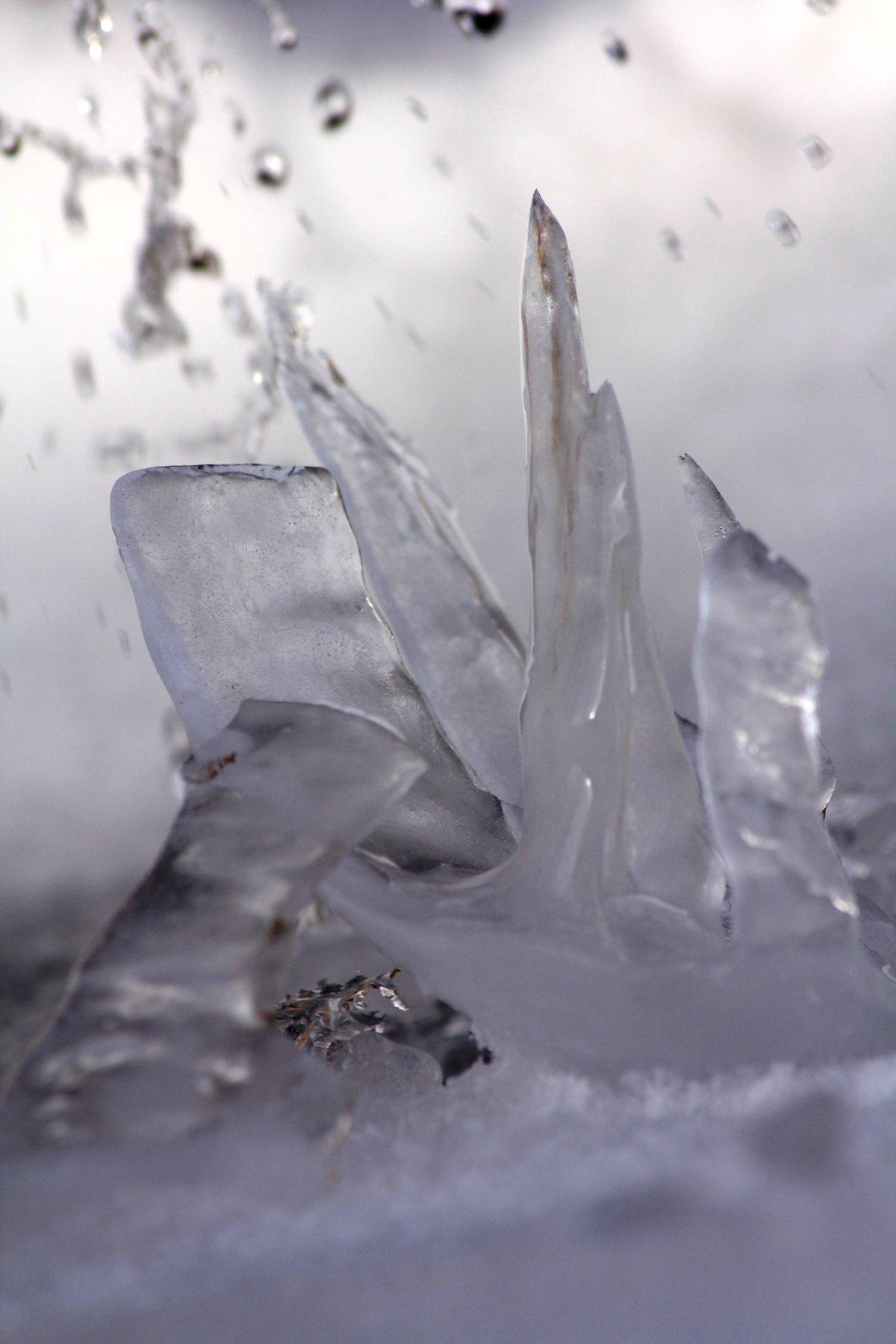 картинки осколок льда предыдущих примерах была