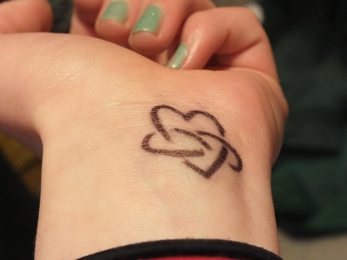 Love N Infinity Symbol Tattoo On Wrist Photo 2 Photo Pi Card