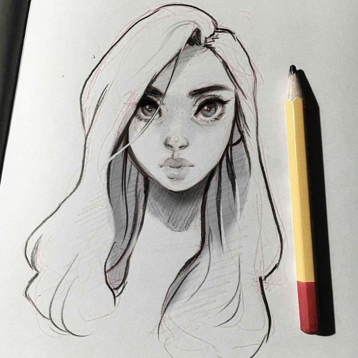 Интересные картинки для срисовки карандашом девушек для новичков