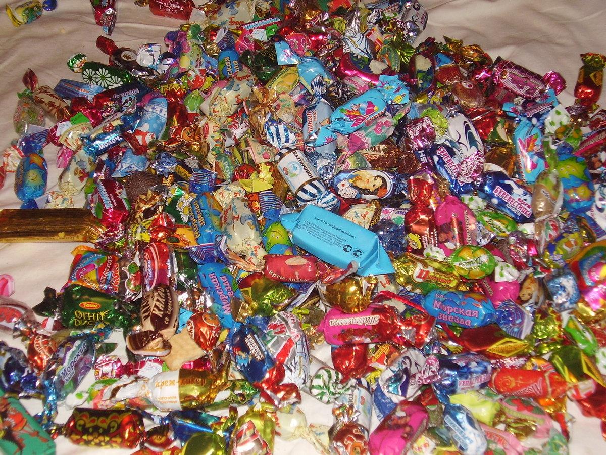 Смешные картинки гора конфет, день