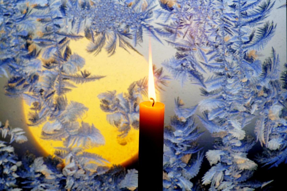 Открытки поздравления, красивая открытка зима вечер