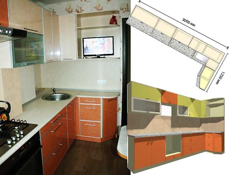 Графика кухни в девятиэтажке фото