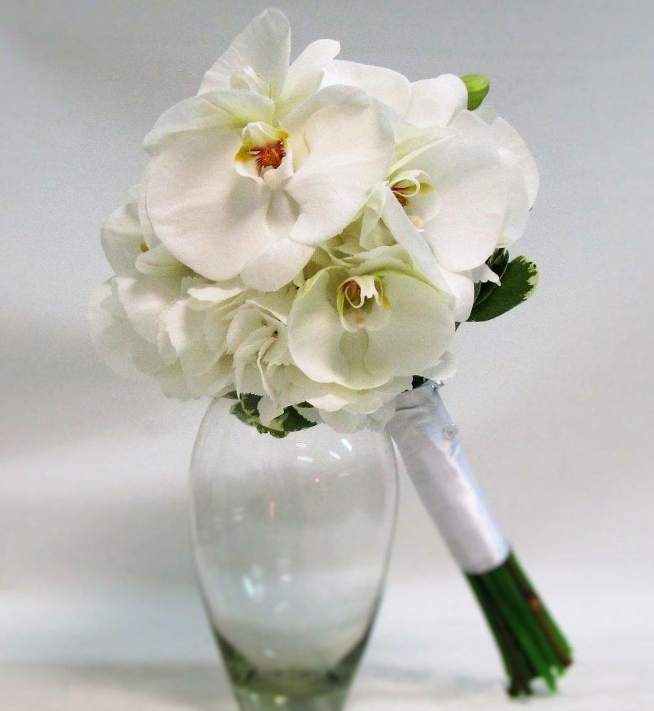 Свадебные букеты орхидей, сорт для