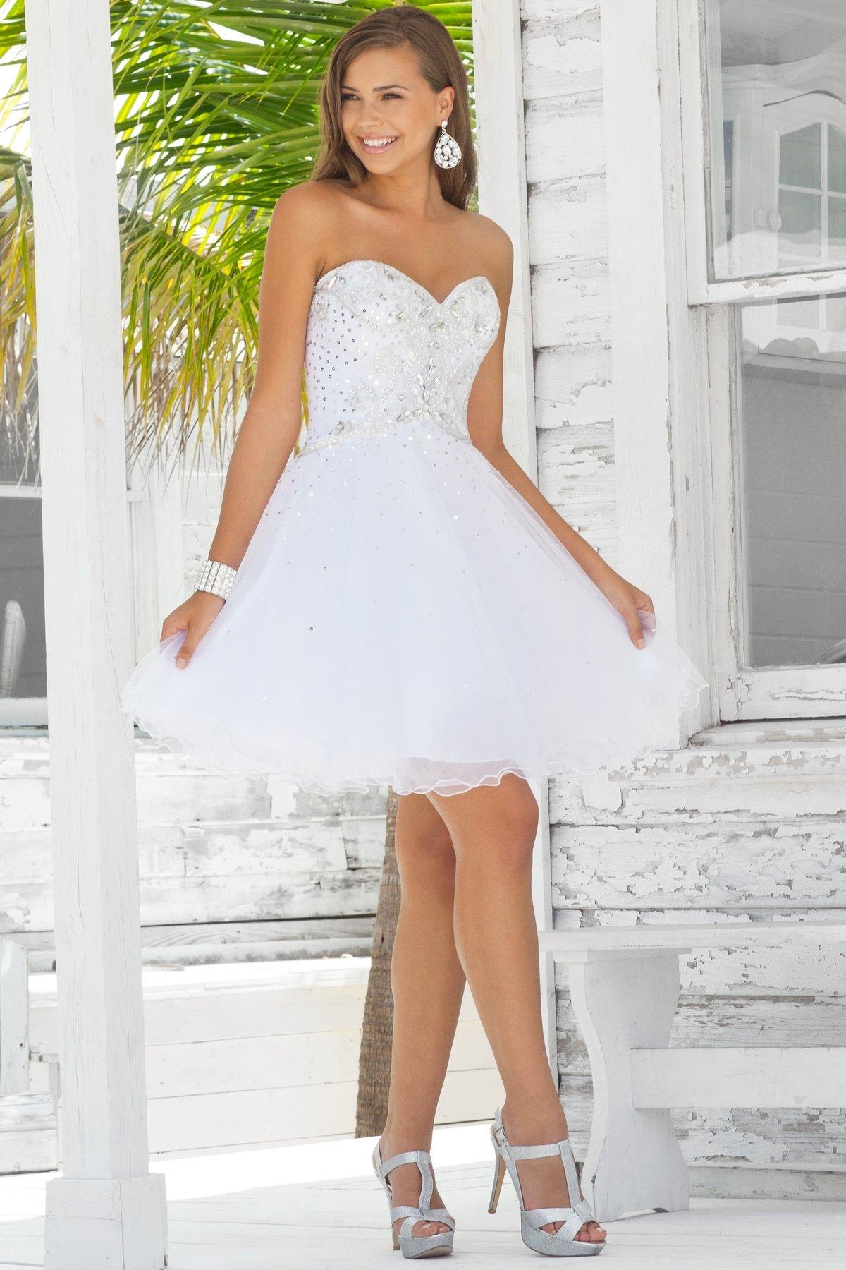 сочетают себе фото невест в коротком платье тему