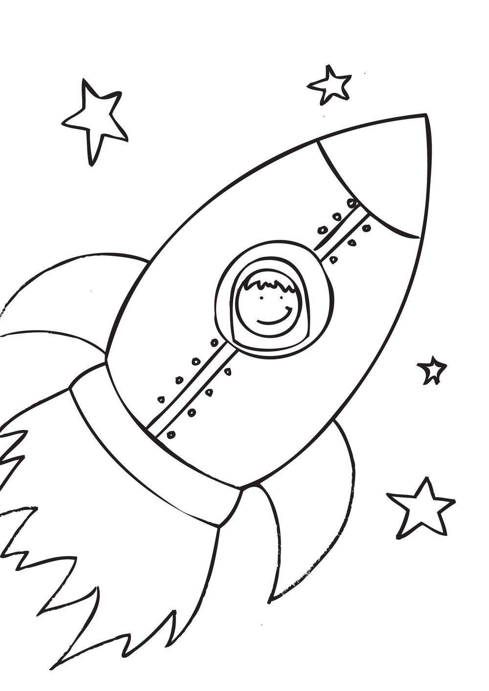 space rocket coloring pages - HD 1000×1411