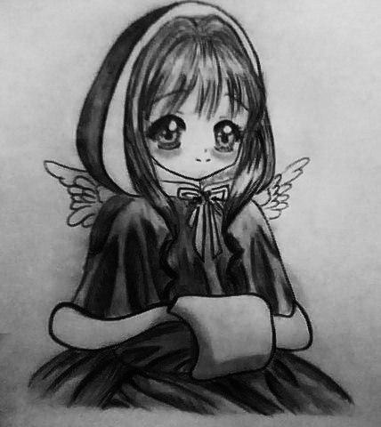 Картинки карандашом с новым годом аниме