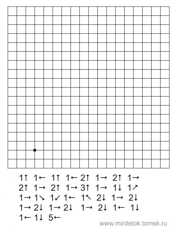 это картинки по клеточкам в тетради по стрелкам правильно разыгрывать