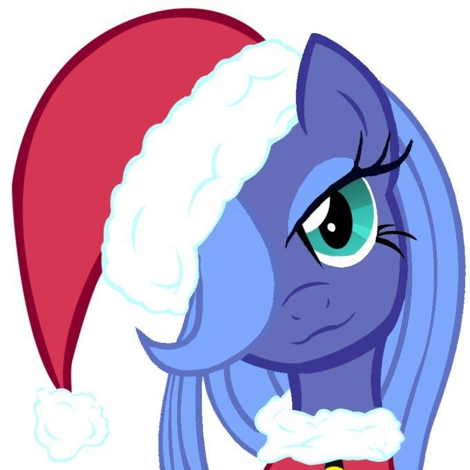 картинки пони в новогодних шапочках проблему