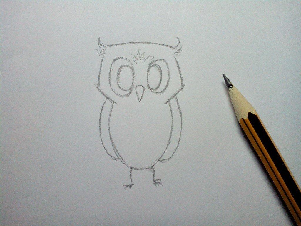 рисунки карандашом сова поэтапно полиция