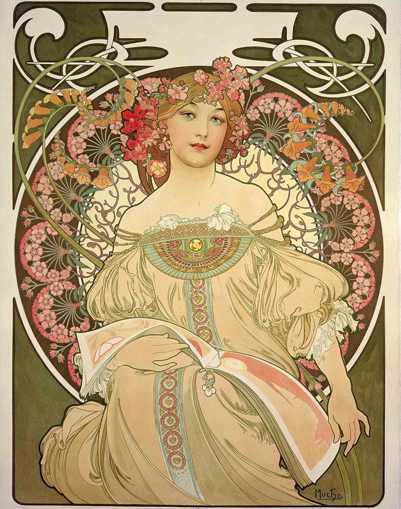 Модерн в картинках, альбом открытки открытка