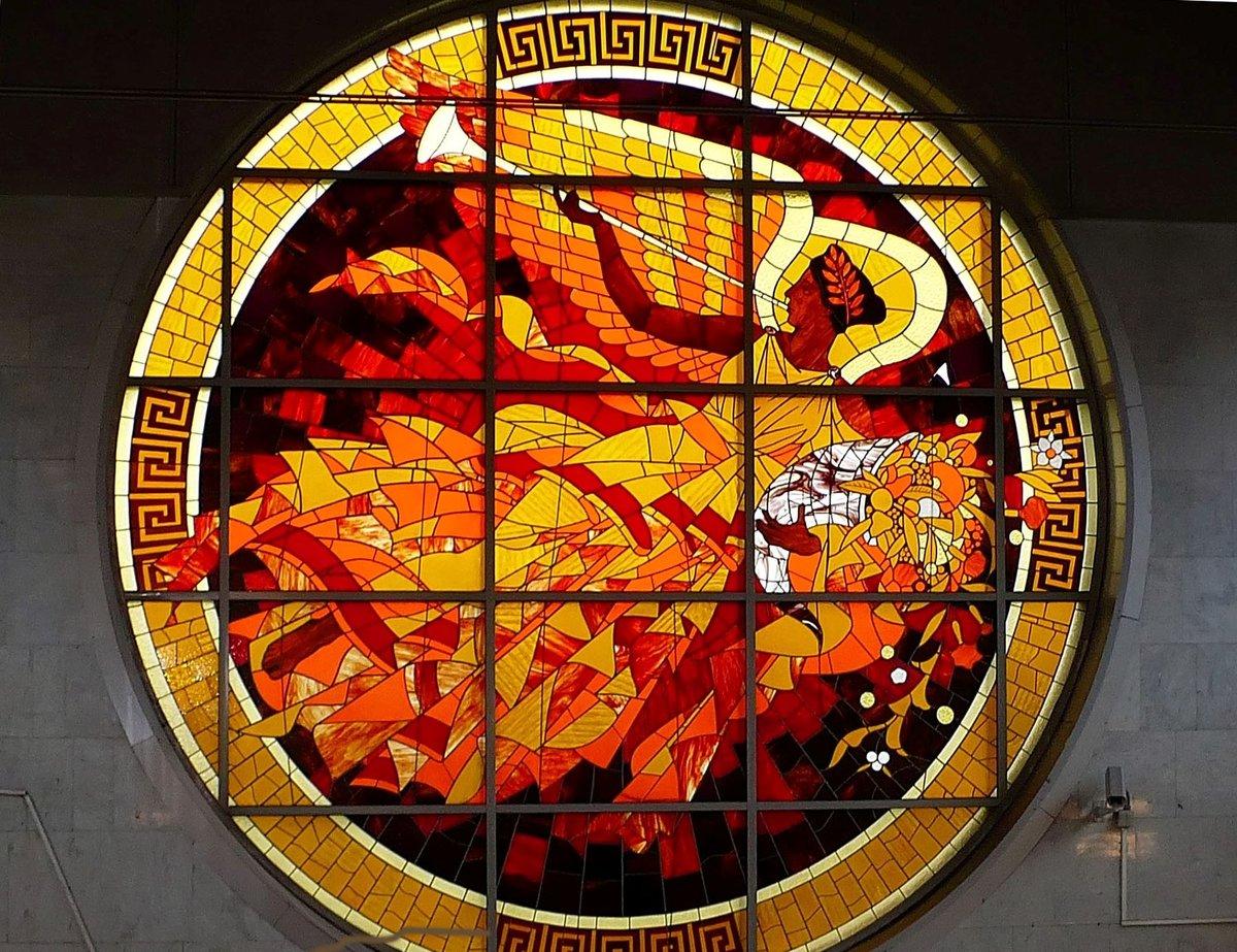 Богиня Ника #витраж #мозаика #смальта #стекло #цветной