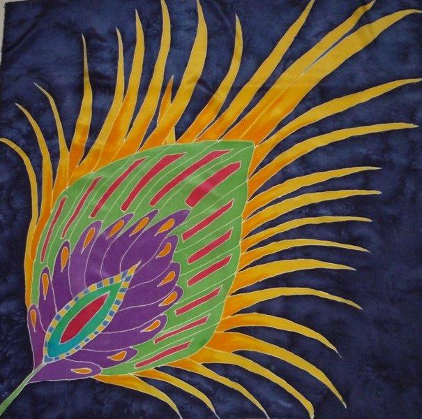 Детские рисунки перо жар птицы используя теплые и холодные цвета