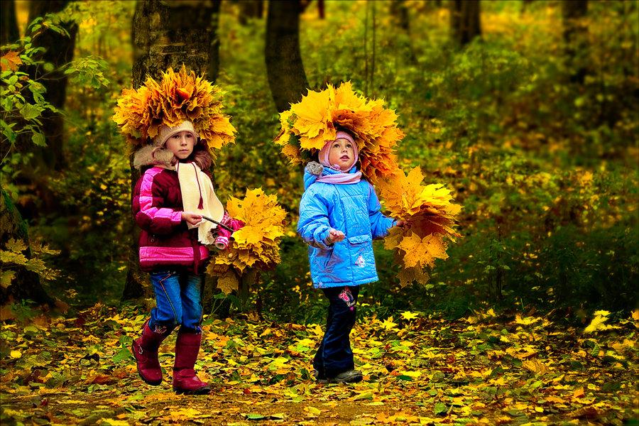 Картинки дети осенью играют, картинки английском языке