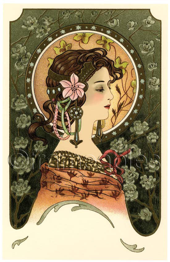 Об открытках в стиле модерн, открытка