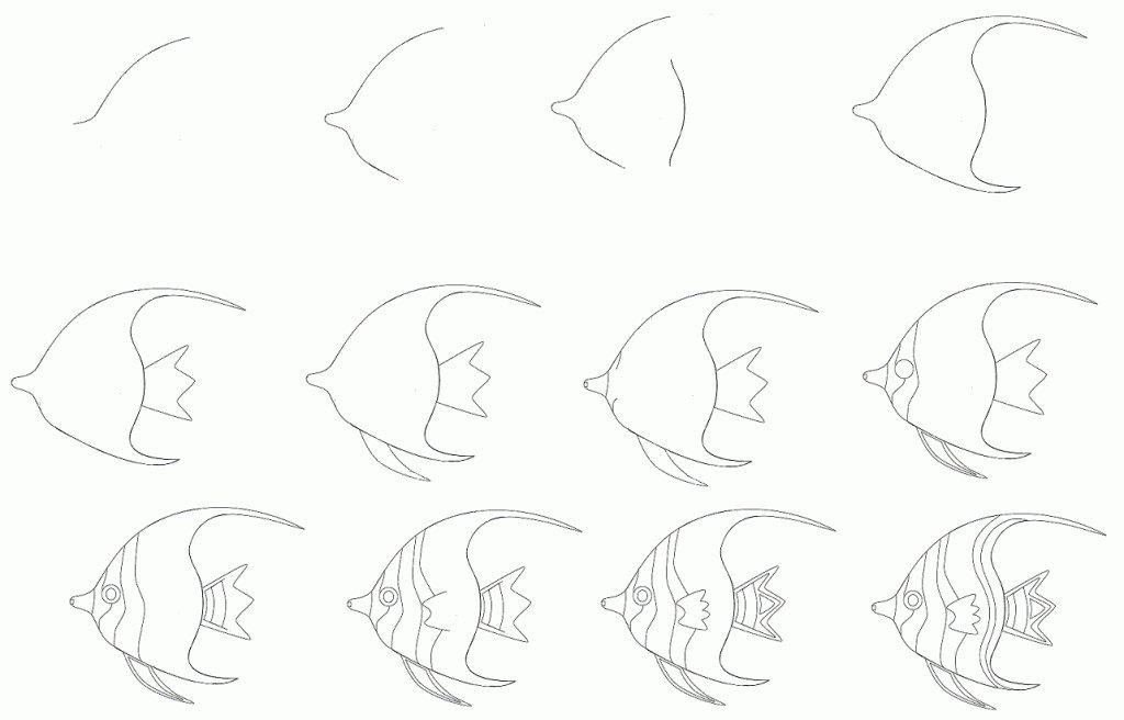 Пошаговые рисунки карандашом картинки