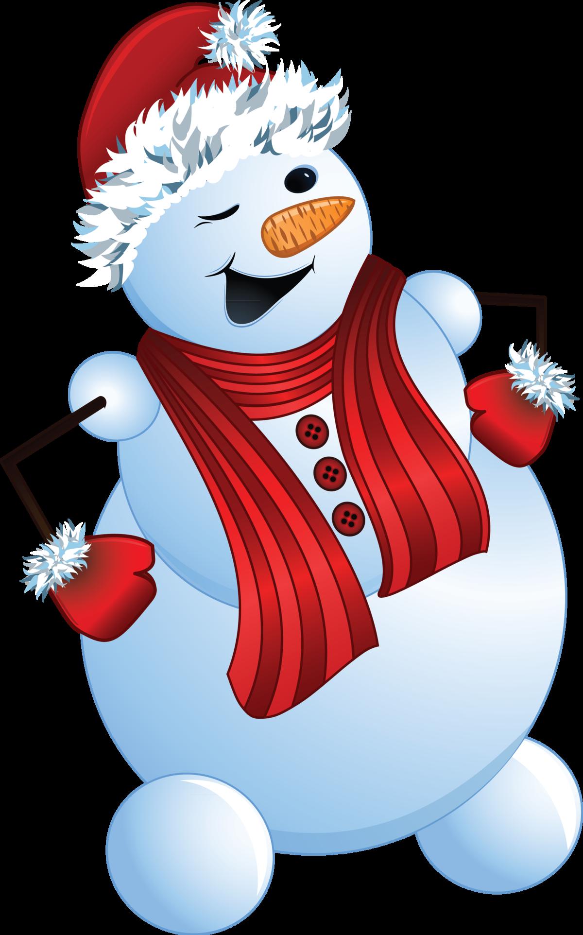 Рисунки веселые снеговики