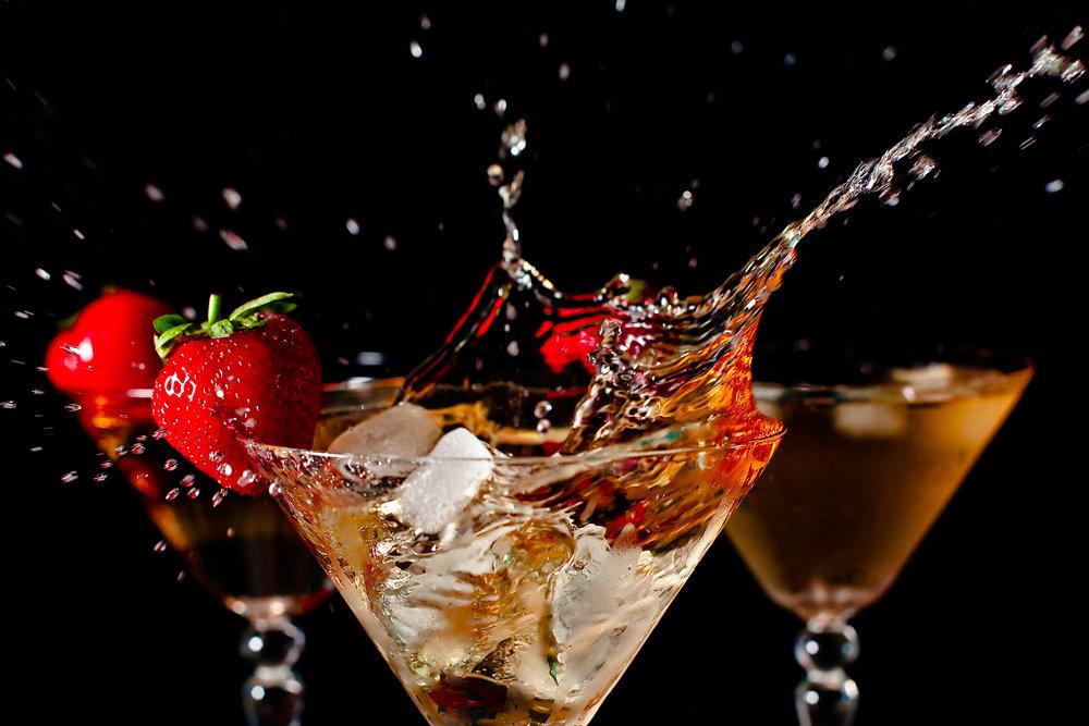 Картинка клубника сливки шампанское