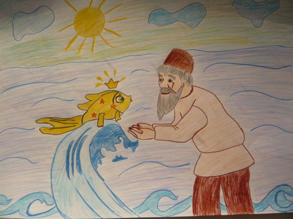 Картинки к сказке золотая рыбка для детей