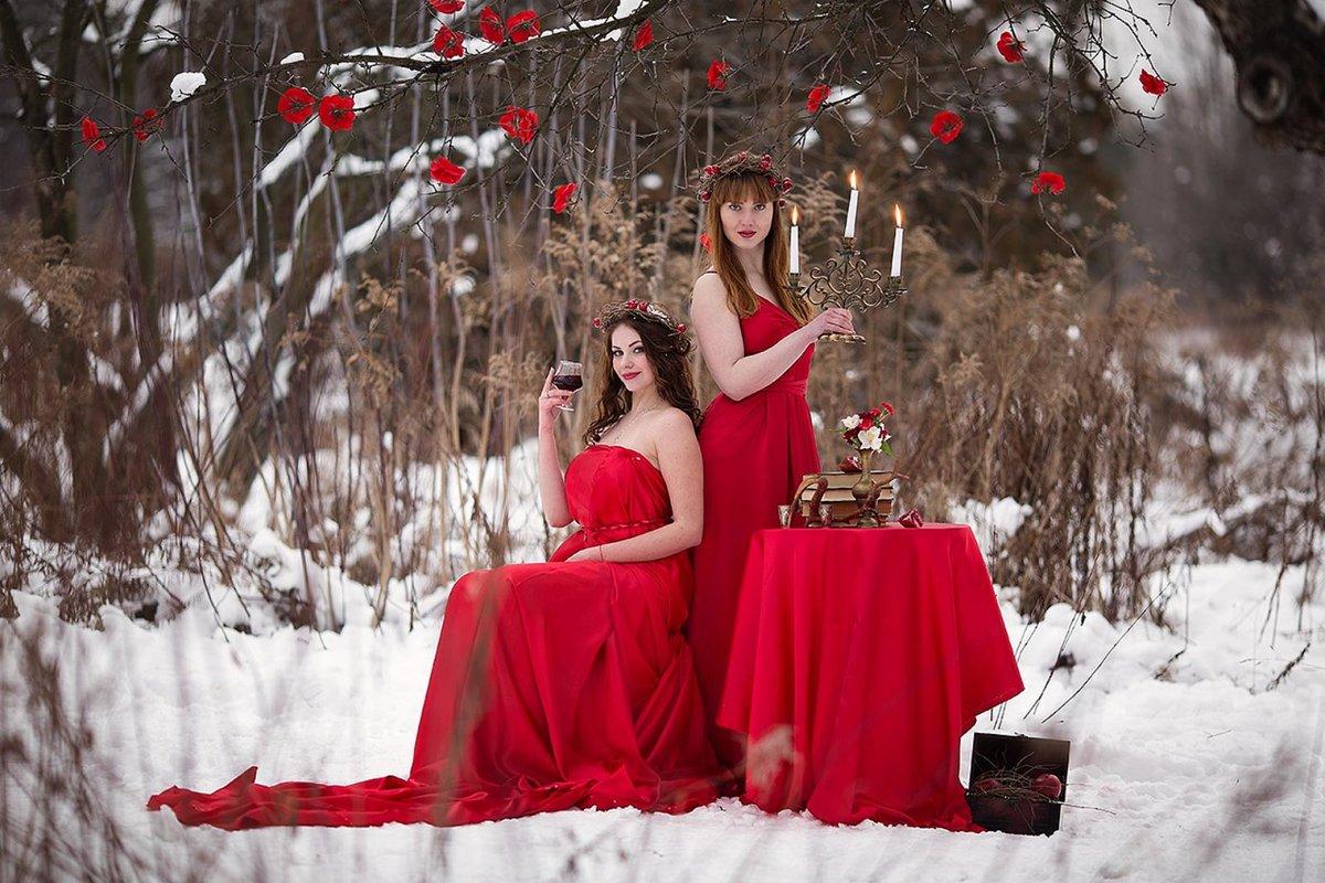 Как нарядиться на фотосессию зимой в лес