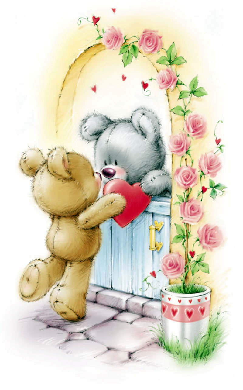 Милой открытки с любовью