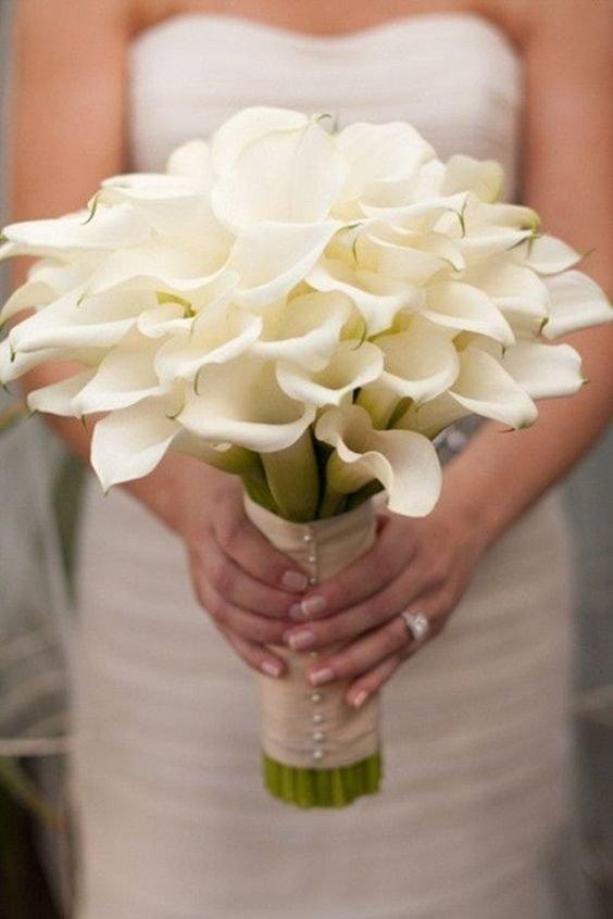Свадебный букет каллы с ландышем, цветов тамара йошкар-ола