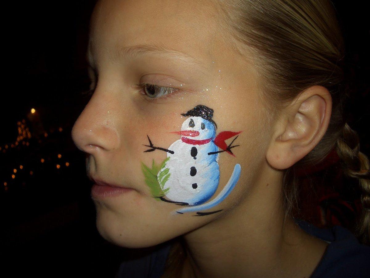 аквагрим снеговик фото ханс