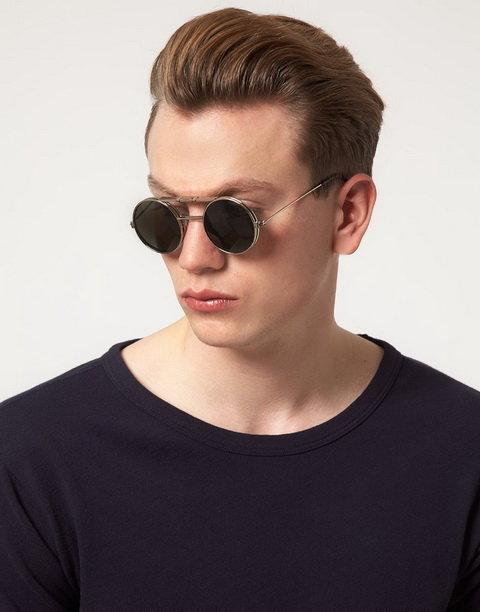 84bd0707436d Мужские круглые солнцезащитные очки  солнечные очки для защиты от ...  Разные названия имеют