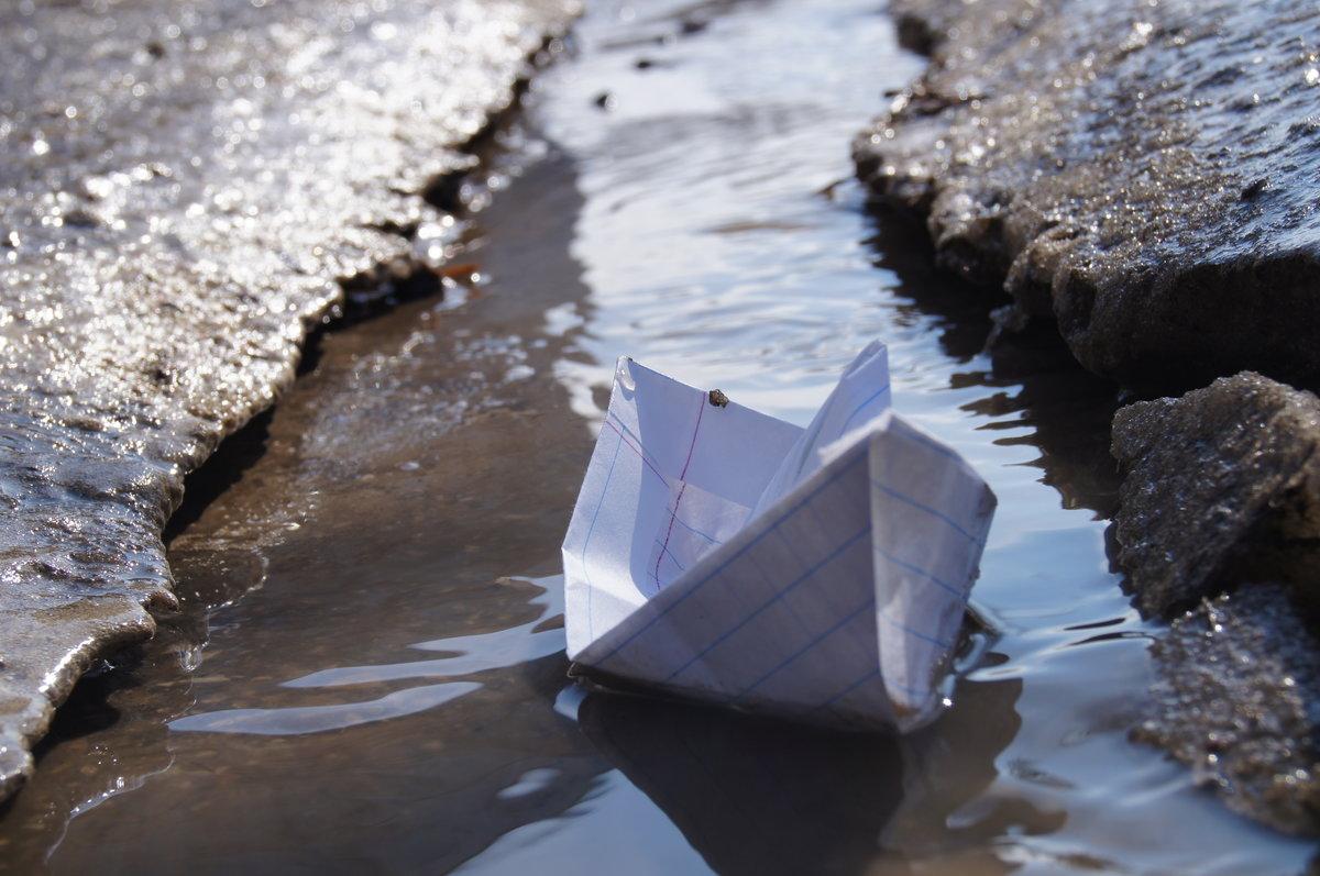 Красивые картинки с бумажным корабликом