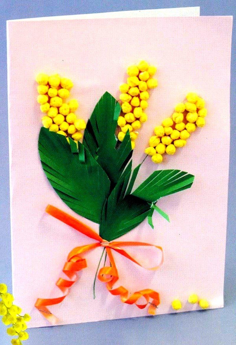 Мастер класс открытка 8 марта своими руками